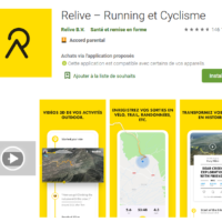 Avis sur l'application Relive